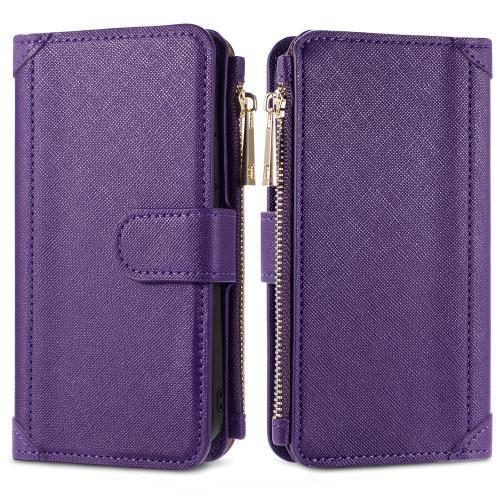Luxe Portemonnee voor de Samsung Galaxy A12 - Paars
