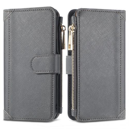 Luxe Portemonnee voor de Samsung Galaxy A42 - Grijs