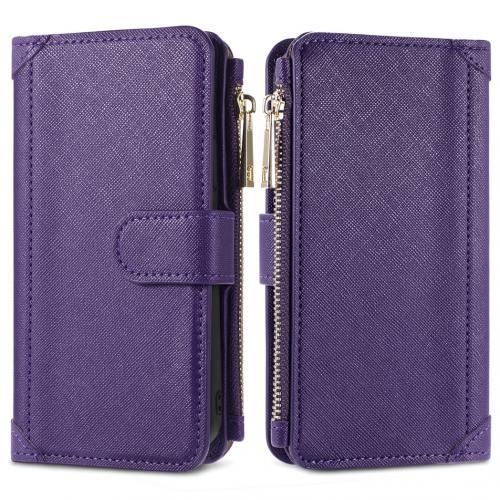 Luxe Portemonnee voor de Samsung Galaxy A42 - Paars