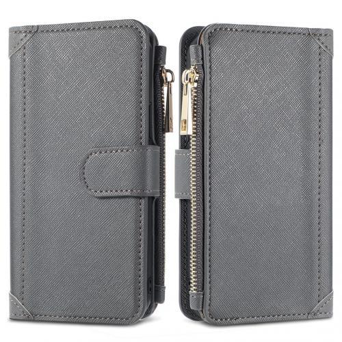 Luxe Portemonnee voor de Samsung Galaxy S10 - Grijs