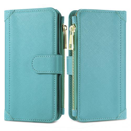 Luxe Portemonnee voor de Samsung Galaxy S10 - Turquoise