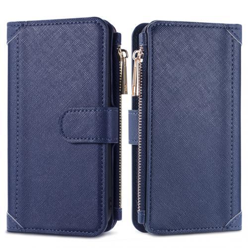 Luxe Portemonnee voor de Samsung Galaxy S21 - Donkerblauw