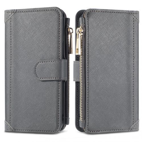 Luxe Portemonnee voor de Samsung Galaxy S21 - Grijs