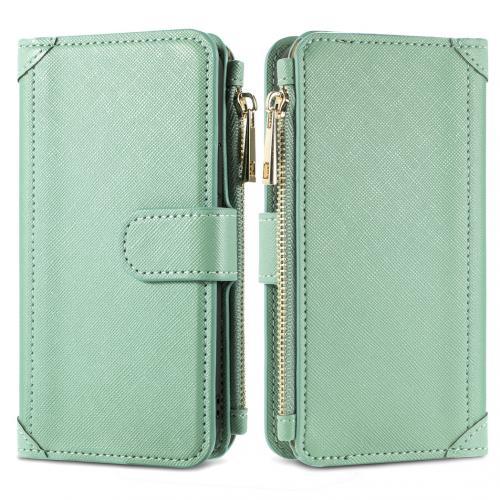 Luxe Portemonnee voor de Samsung Galaxy S21 - Groen