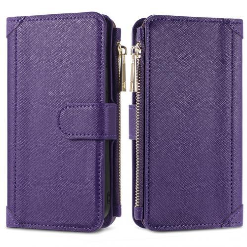 Luxe Portemonnee voor de Samsung Galaxy S21 - Paars