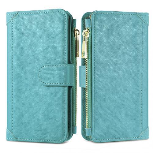 Luxe Portemonnee voor de Samsung Galaxy S21 - Turquoise