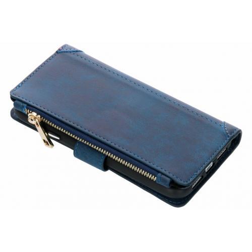 Luxe Portemonnee voor iPhone Xr - Donkerblauw