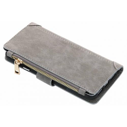 Luxe Portemonnee voor iPhone Xr - Grijs