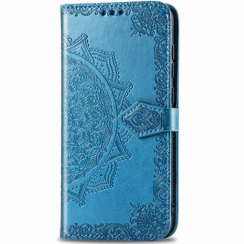 Mandala Booktype voor de iPhone 12 5.4 inch - Turquoise