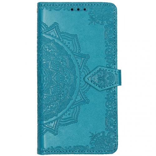 Mandala Booktype voor de Motorola Moto E6 Play - Turquoise