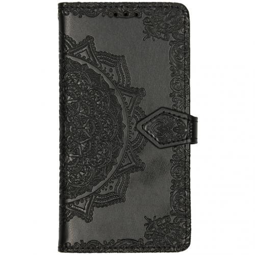 Mandala Booktype voor de Motorola Moto E6 Play - Zwart