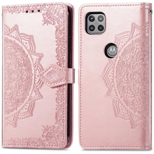 Mandala Booktype voor de Motorola Moto G 5G - Rosé Goud