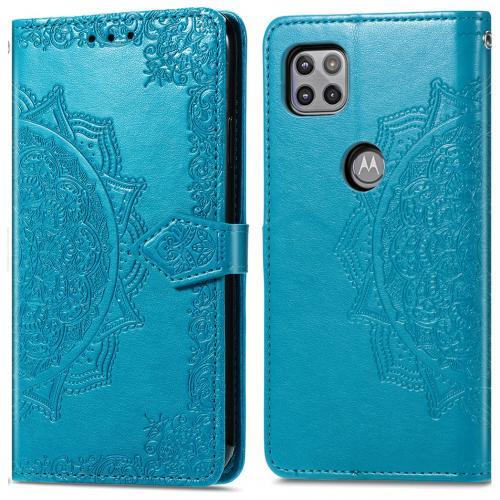 Mandala Booktype voor de Motorola Moto G 5G - Turquoise