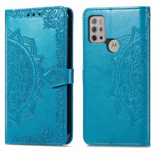 Mandala Booktype voor de Motorola Moto G30 / G10 (Power) - Turquoise