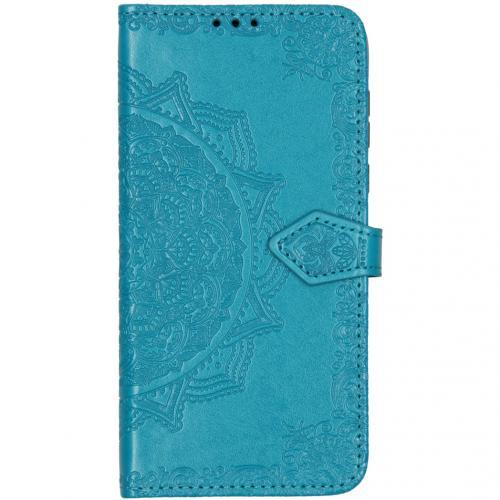 Mandala Booktype voor de Motorola Moto G8 Plus - Turquoise