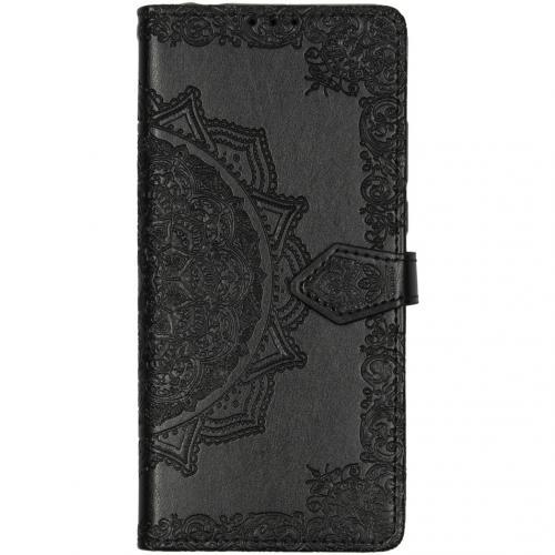 Mandala Booktype voor de Motorola Moto G8 Power Lite - Zwart