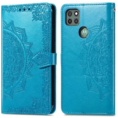 Mandala Booktype voor de Motorola Moto G9 Power - Turquoise