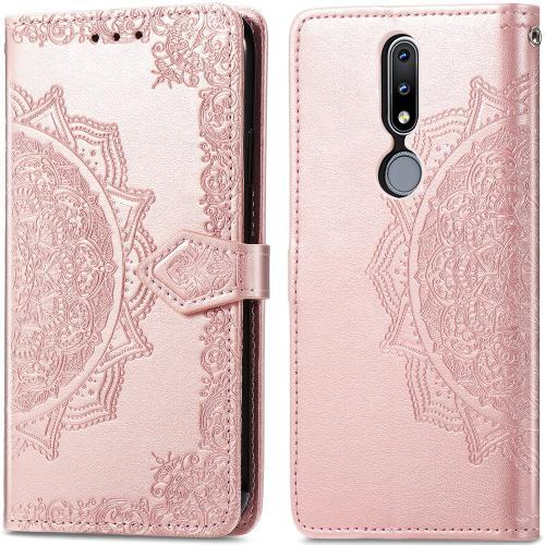 Mandala Booktype voor de Nokia 2.4 - Rosé Goud
