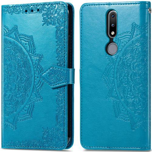 Mandala Booktype voor de Nokia 2.4 - Turquoise