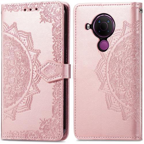 Mandala Booktype voor de Nokia 5.4 - Rosé Goud