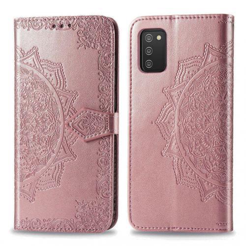 Mandala Booktype voor de Samsung Galaxy A02s - Rosé Goud