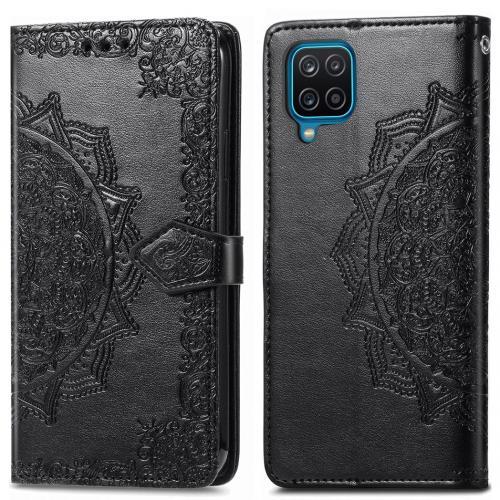 Mandala Booktype voor de Samsung Galaxy A12 - Zwart