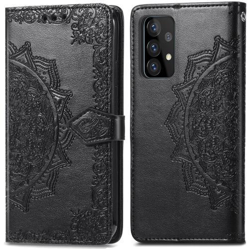 Mandala Booktype voor de Samsung Galaxy A52 (5G) / A52 (4G) - Zwart