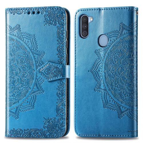 Mandala Booktype voor de Samsung Galaxy M11 / A11 - Turquoise