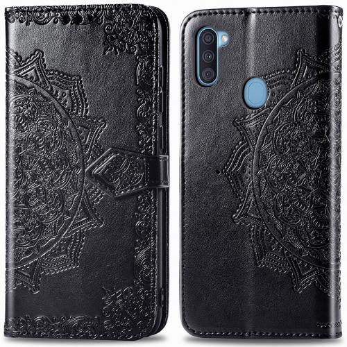 Mandala Booktype voor de Samsung Galaxy M11 / A11 - Zwart