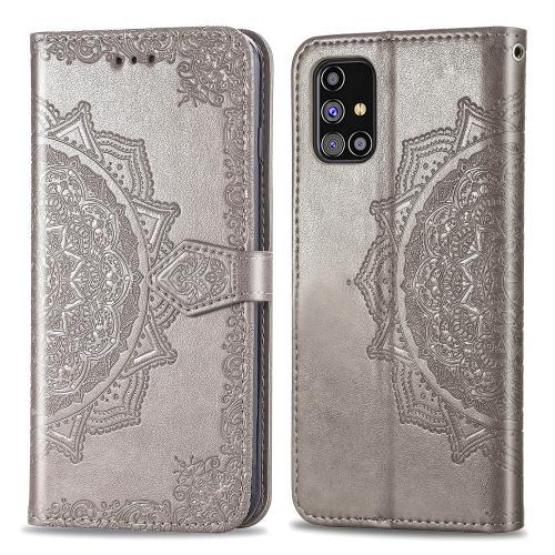 Mandala Booktype voor de Samsung Galaxy M31s - Grijs