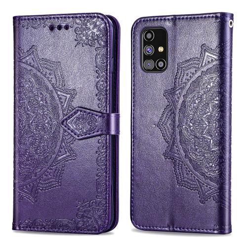Mandala Booktype voor de Samsung Galaxy M31s - Paars