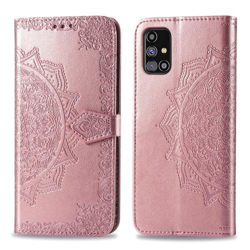 Mandala Booktype voor de Samsung Galaxy M31s - Rosé Goud