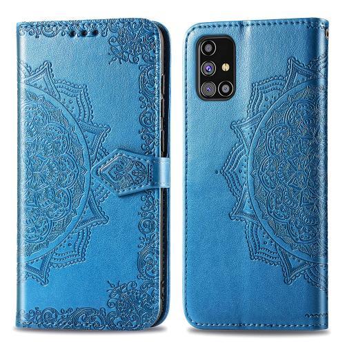 Mandala Booktype voor de Samsung Galaxy M31s - Turquoise