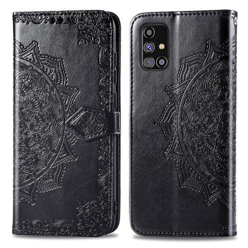Mandala Booktype voor de Samsung Galaxy M31s - Zwart