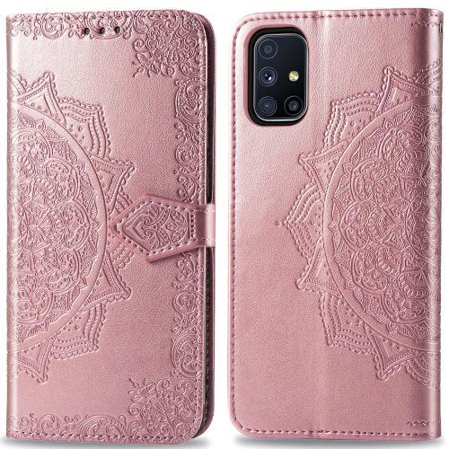 Mandala Booktype voor de Samsung Galaxy M51 - Rosé Goud