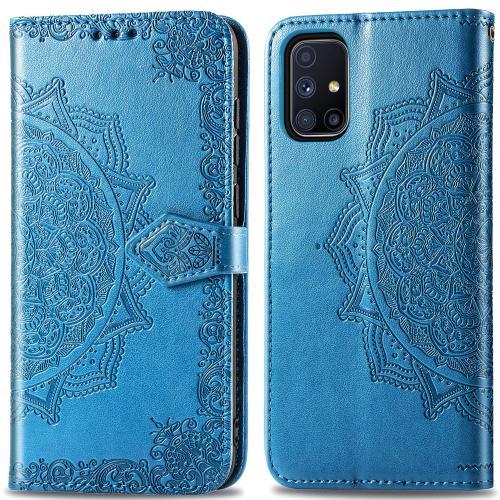 Mandala Booktype voor de Samsung Galaxy M51 - Turquoise