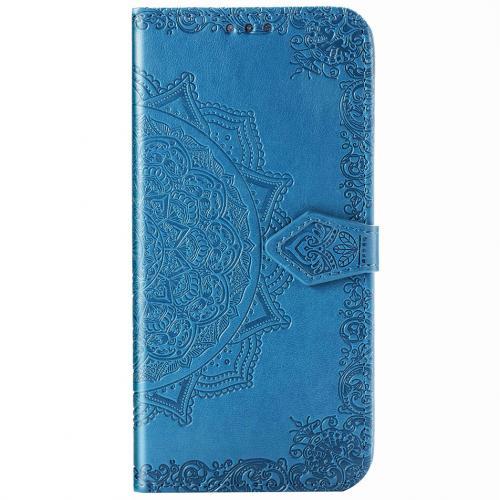 Mandala Booktype voor de Samsung Galaxy Note 20 - Turquoise