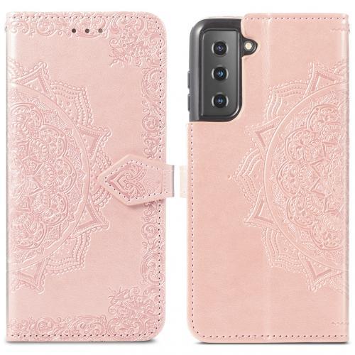 Mandala Booktype voor de Samsung Galaxy S21 - Rosé Goud