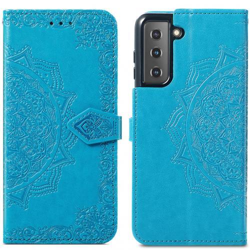 Mandala Booktype voor de Samsung Galaxy S21 - Turquoise