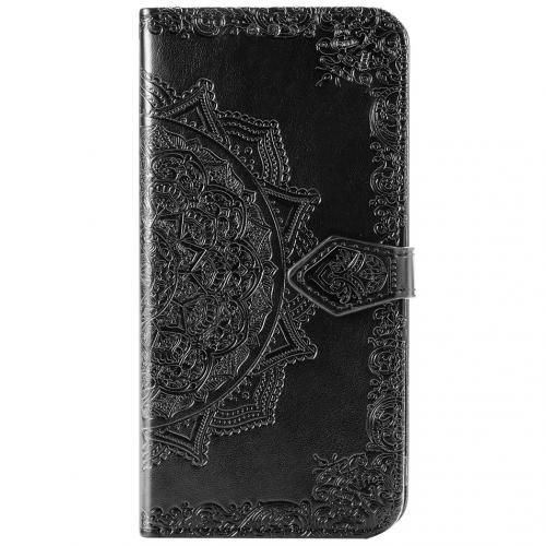 Mandala Booktype voor de Xiaomi Mi 10 (Pro) - Zwart