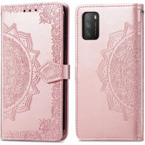 Mandala Booktype voor de Xiaomi Poco M3 - Rosé Goud