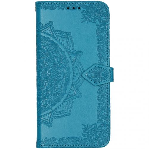 Mandala Booktype voor de Xiaomi Redmi Note 8T - Turquoise