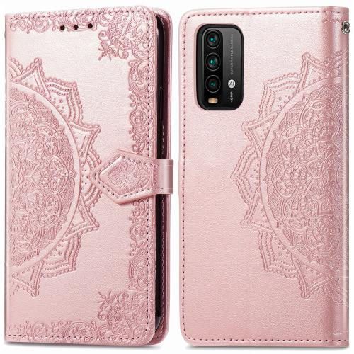 Mandala Booktype voor de Xiaomi Redmi Note 9T (5G) - Rosé Goud