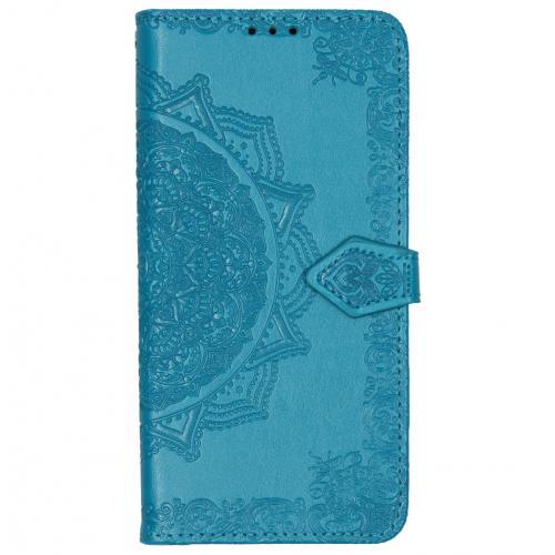 Mandala Booktype voor Motorola One Zoom - Turquoise