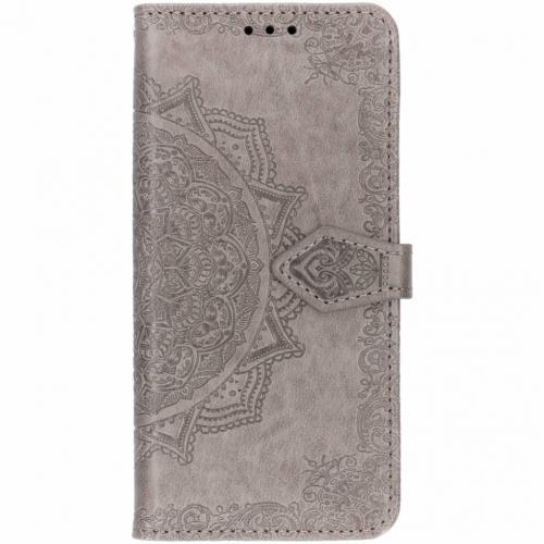 Mandala Booktype voor Samsung Galaxy S10 - Grijs