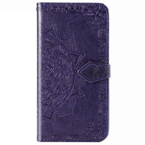 Mandala Booktype voor Samsung Galaxy S20 Plus - Paars