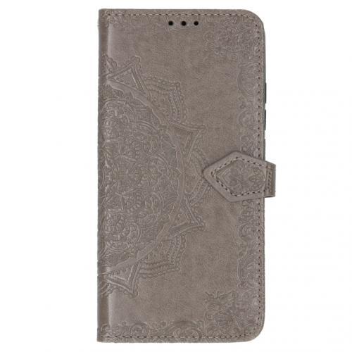 Mandala Booktype voor Xiaomi Mi Note 10 - Grijs