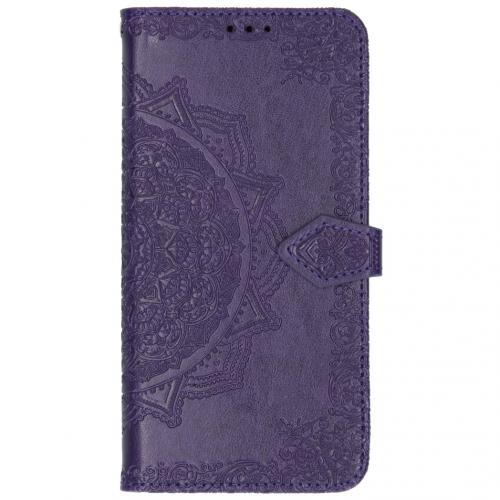 Mandala Booktype voor Xiaomi Mi Note 10 - Paars