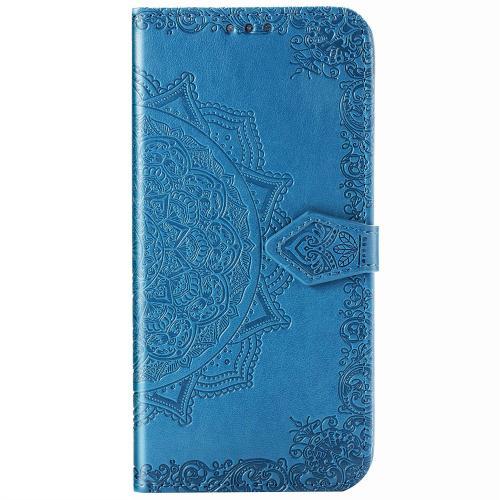 Mandala Booktype voor Xiaomi Redmi Note 8 Pro - Turquoise