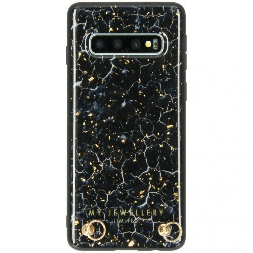 Marmer Hardcase Koordhoesje voor de Samsung Galaxy S10 - Blue Marble